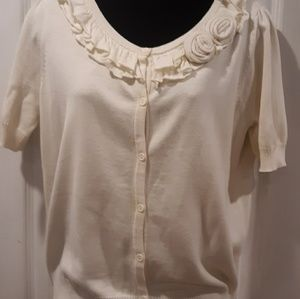 East 5th cream knit sweater blouse